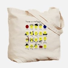 MAHS Smiley Designs Tote Bag