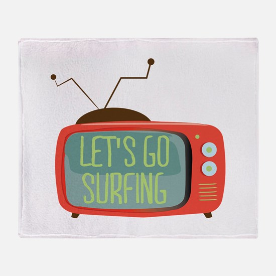 Let's go Surfing Throw Blanket