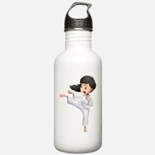 A young woman doing ka Water Bottle