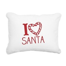 I Love Santa Rectangular Canvas Pillow