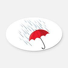 Rain Umbrella Oval Car Magnet