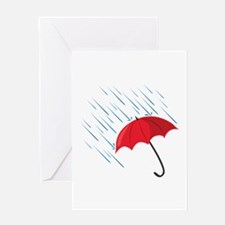 Rain Umbrella Greeting Cards