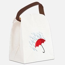 Rain Umbrella Canvas Lunch Bag