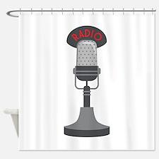 Radio Microphone Shower Curtain