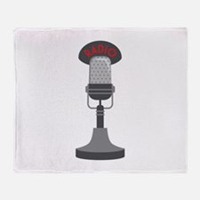 Radio Microphone Throw Blanket