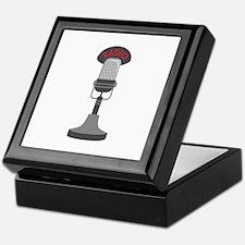 Radio Microphone Keepsake Box