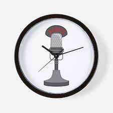 Radio Microphone Wall Clock