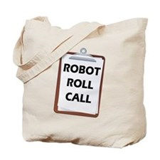 Robot Roll Call Tote Bag