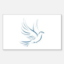 Dove of Peace Rectangle Decal