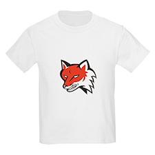 Red Fox Angry Head Retro T-Shirt