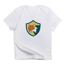 Red Fox Angry Head Shield Retro Infant T-Shirt