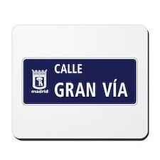 Calle Gran Vía, Madrid Mousepad