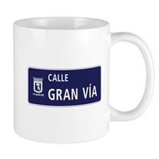 Calle Gran Vía, Madrid Mug