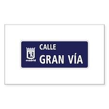 Calle Gran Vía, Madrid Decal