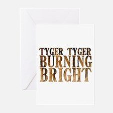 Tyger Tyger Burning Bright Greeting Cards (Package