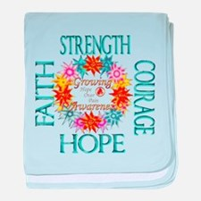 Funny Strength baby blanket