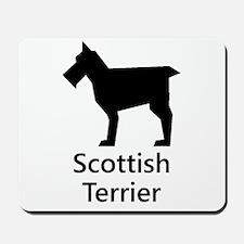 Scottish Terrier Silhouette Mousepad