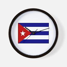 Cuban Flag Wall Clock