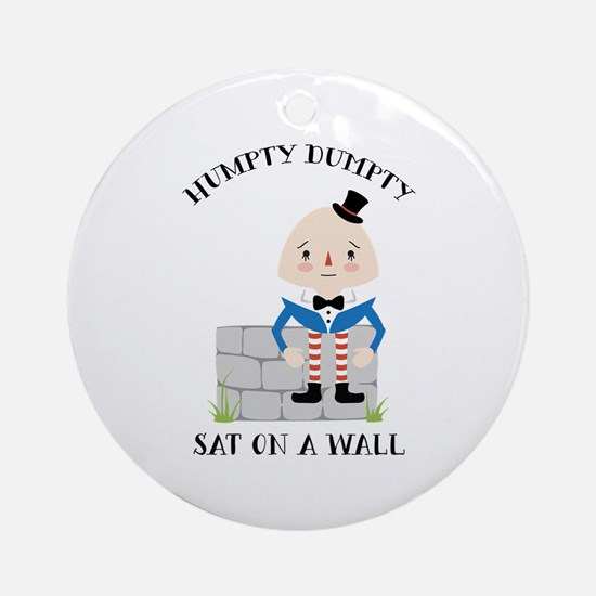 Sat On A Wall Ornament (Round)