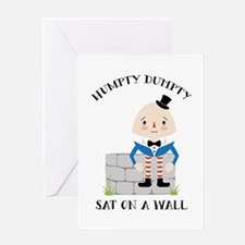 Sat On A Wall Greeting Cards