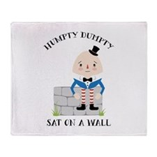 Sat On A Wall Throw Blanket