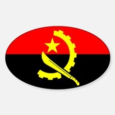 Angola Flag Oval Decal