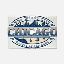 Cute Windy city Rectangle Magnet