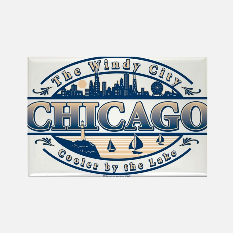 Cute Chicago the windy city Rectangle Magnet
