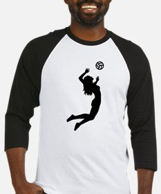 Volleyball girl Baseball Jersey