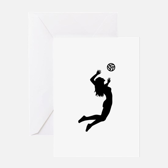 Volleyball girl Greeting Card