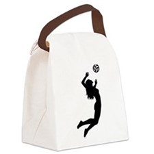 Volleyball girl Canvas Lunch Bag