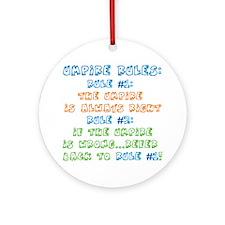 Umpire Rules Ornament (Round)
