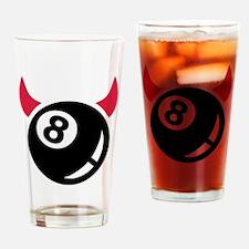 Billiards ball devil Drinking Glass