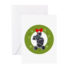 Cool Miniature schnauzer art Greeting Card