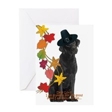 Funny Black Lab Thanksgiving Greeting Cards