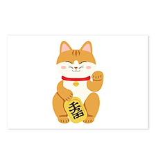 Maneki Neko Japanese Figurine Cat Postcards (Packa