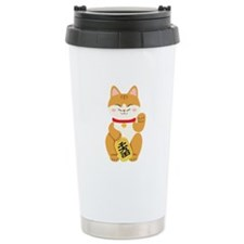 Maneki Neko Japanese Figurine Cat Travel Mug