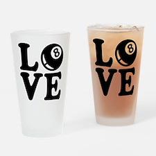 Billiards love Drinking Glass