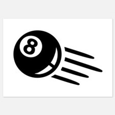 Billiards eight ball Invitations