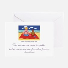 The Sea casts its Spell Greeting Cards (Package of
