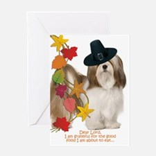 Funny Lhasa Apso Thanksgiving Greeting Cards