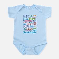 Eat Sleep Book Club Infant Bodysuit