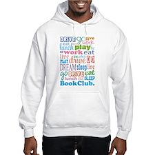Eat Sleep Book Club Hoodie