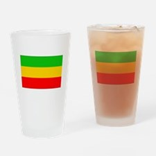 Ethiopia Flag Drinking Glass