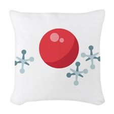 Ball & Jacks Woven Throw Pillow