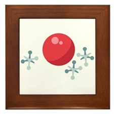 Ball & Jacks Framed Tile