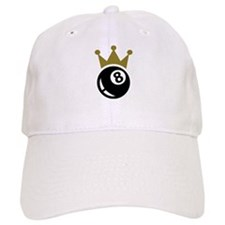 Eight ball billiards crown Baseball Cap