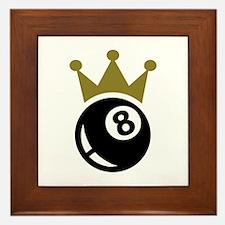 Eight ball billiards crown Framed Tile
