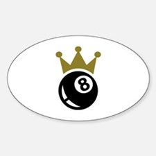 Eight ball billiards crown Decal