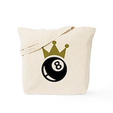Eight ball billiards crown Tote Bag